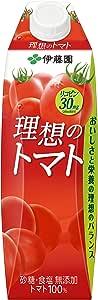 伊藤園 理想のトマト キャップ付 屋根型紙パック 1L×6本