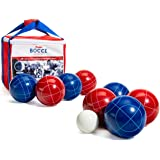 Franklin Sports Bocce Ball Set — 8 All Weather Bocce Balls and 1 Pallino — Beach, Backyard Lawn or Outdoor Party Game — Profe