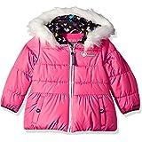 Skechers Girls Heavyweight Puffer Jacket with Cozy Trimmed Hood Hooded Down Alternative Coat