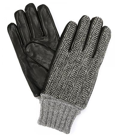 Infielder Design Sheep Leather Harris Tweed Glove 1437-599-1020: 4