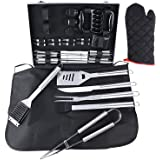Ohuhu BBQ Grill Accessories Tool Set, 31 PCS Heavy Duty Stainless Steel Barbecue Grill Utensils with Aluminium Case, Grilling