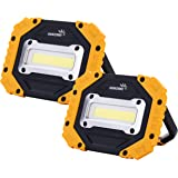 Portable LED Work Light, COB Flood Lights, Job Site Lighting, Super Bright Waterproof for Outdoor Camping Hiking Car Repairin