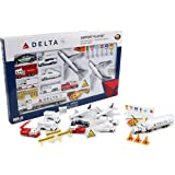 Daron Delta Airport Playset, 30-Piece