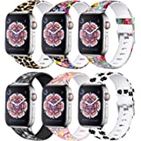 Laffav Floral Band Compatible with Apple Watch 40mm 38mm 44mm 42mm for Women Men, Soft Sport Pattern Waterproof Strap Compati