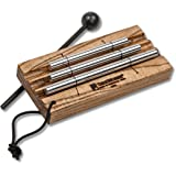 TreeWorks Chimes (MADE IN U.S.A.) Three Tone Energy Chime for Meditation and Classroom Use includes Mallet and Cord Handle (V
