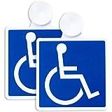 ポケット(Pocket) 国際シンボルマーク 車椅子マーク ステッカー 吸盤タイプ 2枚セット