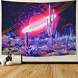 Galaxy Tapestry Trippy Planet Tapestry Psychedelic Cactus Wall Tapestry Mysterious Space Tapestry Magic Starry Stars Wall Han