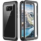 Pakoyi Samsung Galaxy S8 Case, Full Body Bumper Case Built-in Screen Protector Slim Clear Shock-Absorbing Dustproof Lightweig
