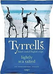 Tyrrell's Lightly Sea Salted Potato Chips, 150g