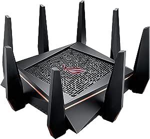 ASUS ゲーミング WiFi 無線LAN ルーター GT-AC5300 トライバンド AC5300 11ac 2167+2167+1000Mbps 最大24台 4LDK 3階建 PS4 対応