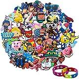 Lot of 20,50,100pcs Random PVC Different Shoe Charms for Jibbitz croc Bands & Bracelet Wristband