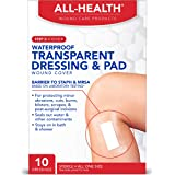 """All Health Clear Waterproof Dressing With Pad, 2.375"""" X 4"""""""