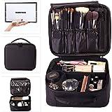 ROWNYEON Makeup Bag Makeup Case Travel Make Up Bag Makeup Organiser Bag Makeup Train Case(Black)