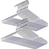 StorageWorks 洗濯ハンガー 30本組(一本あたり57.7円) すべらない スチール 乾湿両用 洗濯 物干し 防錆加工 型崩れ防止 衣類 タオル 洋服 Tシャツ 軽い スリム 収納力 頑丈 錆びにくい 曲がらない PVC セット買い ベーシ