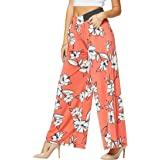 Conceited Premium Women's Palazzo Pants Pockets - High Waist - Solid Printed Designs