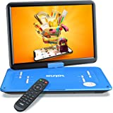 "SUNPIN 17.9"" Portable DVD Player with 15.6 inch Large HD Swivel Screen, Long Lasting Rechargeable Battery, Support USB/SD Car"