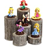 Mooca Wooden 6 Pcs Round Risers for Display Jewelry and Accessories Display Stand Wooden Display Risers, Wood Jewelry Risers
