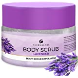 Salt & Oil Based Lavender Body Scrub for Women & Men, 14 Oz, Dead Sea Salts Exfoliator: Goodbye Blackheads, Ingrown Hairs and