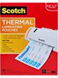 Scotch Thermal Laminating Pouches, 8.9 x 11.4-Inches, 3 mil thick, (TP3854-100) by Scotch