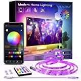 TV Led Backlight, ViLSOM 8.2ft Bluetooth App Control Led Lights for TV PC 32-60inch, Music Sync with Remote USB Led Strip Lig