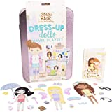 Story Magic Dress-Up Dolls Travel Playset by Horizon Group USA, Pretend Play Magnetic Case, Over 85 Magnet Outfit and Accesso