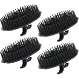 4pcs Scalp Massager Shampoo Brush, Shampoo Massage Brush Floriated Shower Comb, Scalp Massager for Hair Growth Beard Brush Pe