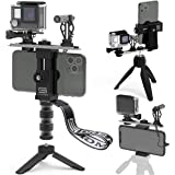 Video Rig for Vertical/Horizontal Shooting DREAMGRIP Scout VL with Directional Minigun mic, Lavalier Lapel Microphone, Best Y