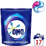 OMO Laundry Liquid Triple Capsules Front & Top Loader Active, 17 Pack