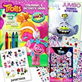 DreamWorks Trolls World Tour Coloring Books, Sticker Pad and 24 Tattoos Activity Set
