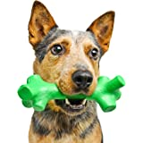 Pet Qwerks BarkBone Mint Flavor Dental Breath Stick Dog Chew Toy - Durable Dog Bones for Aggressive Chewers, Tough Power Chew