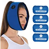 Face Ice Pack for Wisdom Teeth, Jaw, Head and Chin, 4 Reusable Hot or Cold Gel Packs, Relief for Mouth, or Oral Pain, Facial