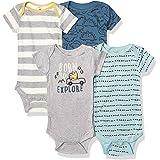 GERBER Baby Boys 4-Pack Short Sleeve Onesies Bodysuits