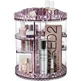 Sorbus Rotating Makeup Organizer, 360° Rotating Adjustable Carousel Storage for Cosmetics, Toiletries, and More - Great for V