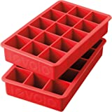 Tovolo Perfect Cube Ice Trays, Candy Apple - Set of 2