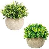 ミニ人工植物鉢植えの偽物植物オフィスキッチンバスルーム寝室ホテル本棚用に鉢植えの農家装飾植物(Type 3)