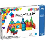 Magna-Tiles 12148 48-Piece Clear Colors DELUXE Set - The Original, Award-Winning Magnetic Building Tiles - Creativity and Edu