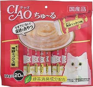 チャオ (CIAO) ちゅ~る まぐろ 海鮮ミックス味 14g×20本