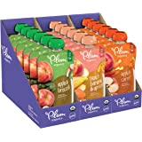 Plum Organics Stage 2, Organic Baby Food, Fruit and Veggie Variety Pack, 4 Ounce pouches (Pack of 18)