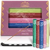 LA BELLEFÉE Incense Sticks Gift Set (Set of 6) 120sticks fragrances Include :Sandalwood,Strawberry,Wild Cherry,Jasmine,Africa