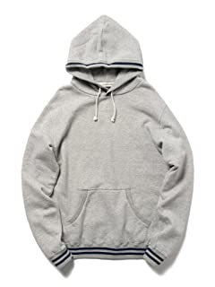 Lined Rib Pullover Sweat Parka 11-13-1740-103: Grey
