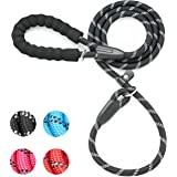 iYoShop 6FT Extremely Durable Slip Dog Rope Training Leash with Comfortable Padded Handle and Highly Reflective Threads Quali