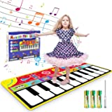 Renfox Kids Musical Piano Mats - Dance & Learn Keyboard Play Mat with 8 Musical Instrument Sound, 5 Play Modes, Early Educati