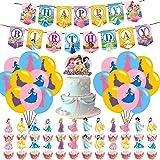 Princess Party Supplies,Disne_y Princess Cake Toppers , Princess Girl Birthday Party Supplies,Princess Theme Birthday Party F