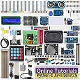 SunFounder Raspberry Pi スターターキット究極版, ラズベリーパイ4B 3B+ 400用, Python C Java Scratch プログラミング, オンライン詳細マニュアル, 131学習レッスン, 337アイテム(カメラモ