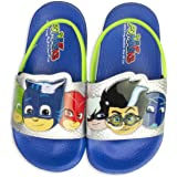 PJ Masks Sandals,Slip on Slides Catboy Gekko Owlette Romeo,Mismatch Heroes Vs Villains,Toddler Size 6/7 to Kids Size 10/11