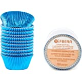 Gifbera Food Grade Standard Blue Foil Paper Muffin Baking Cups Cupcake Liners 200-Count (Blue)