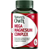 Nature's Own Mega Magnesium Complex - Supports muscle function and relaxation when dietary intake is inadequate, 100 Tablets