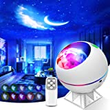 Galaxy Projector 3 in 1 Ocean Wave Projector Night Light Star Projector with Remote Voice Control, Nebula Cloud 360 Pro Glow