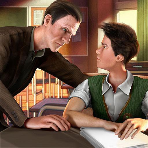 高校の邪悪な教師のシミュレータの3D:都市の学校こんにちは教師冒険のゲームは、子供たち2018無料