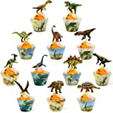 Dinosaur Cupcake Wrappers And Toppers Dinosaur Cupcake Cups 24 Pack Jurassic World Party Supplies Boys Kids Dino Party Suppli